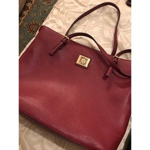 Red Anne Klein Tote